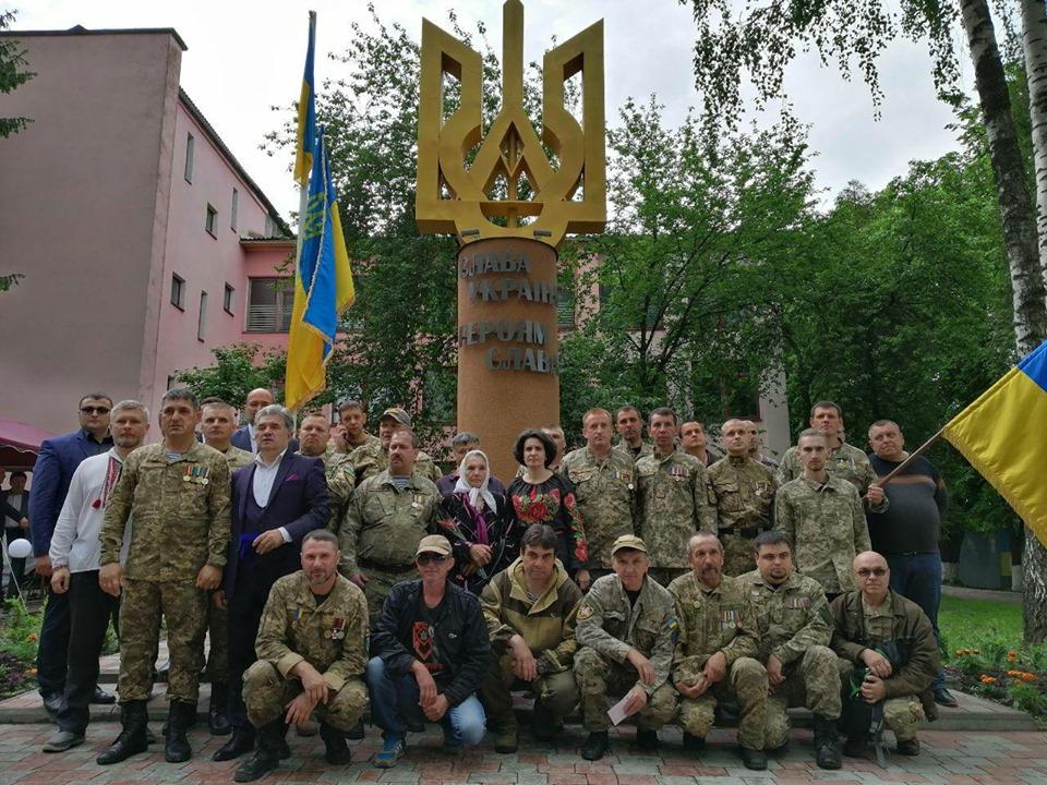 У Бурштині встановили Меморіал Героям України
