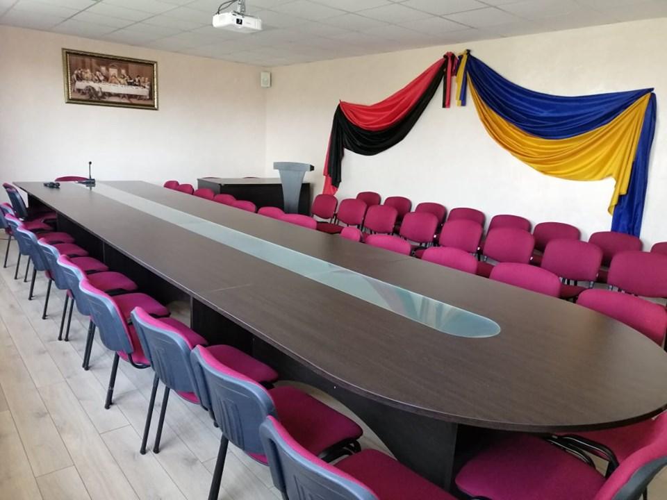 Відкриття оновленого залу засідань у Дзвиняцькій ...