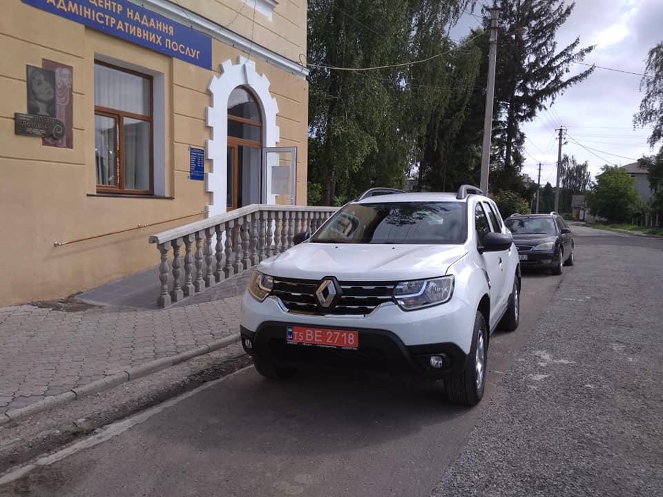 Більшівцівською селищною радою ОТГ придбано автомобіль для обслуговування населення первинної ланки медицини RENAULT NEW DUSTER